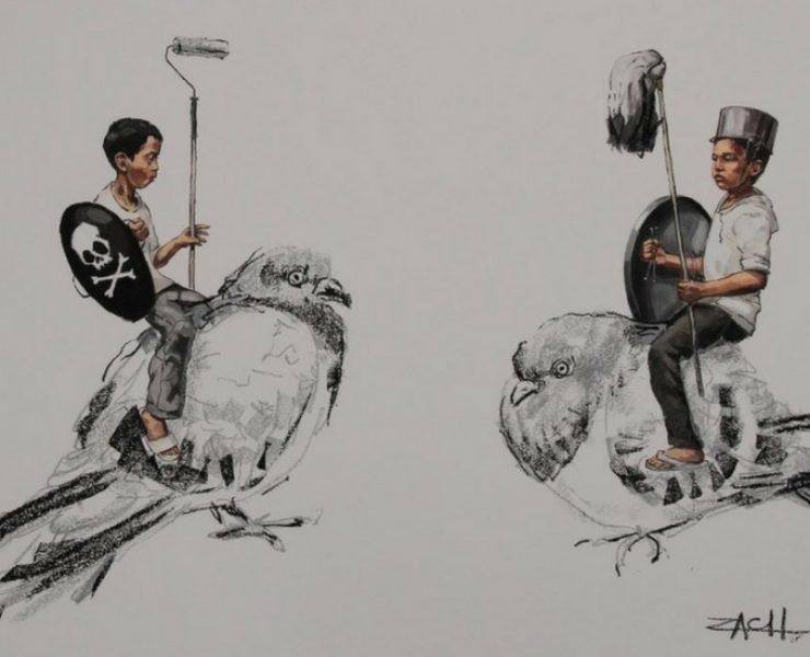 """Street art a Singapore: """"sfide di stile"""" per ZACH"""