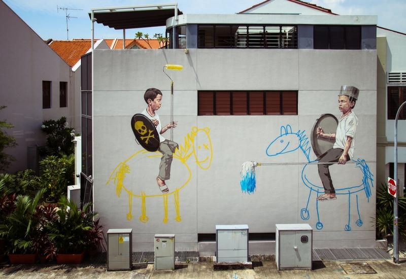 Uno dei murales della serie Style Wars a Singapore