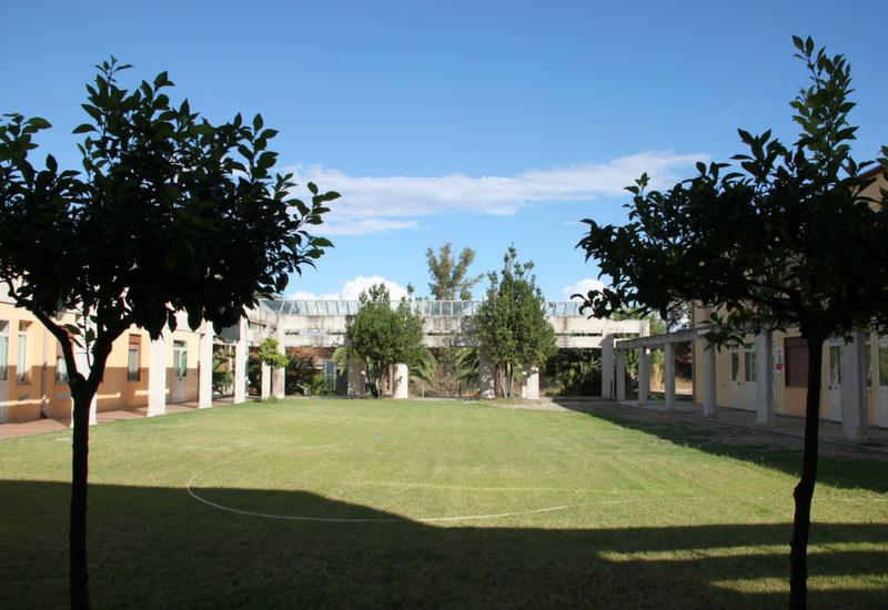 Il cortile della Cittadella della Speranza