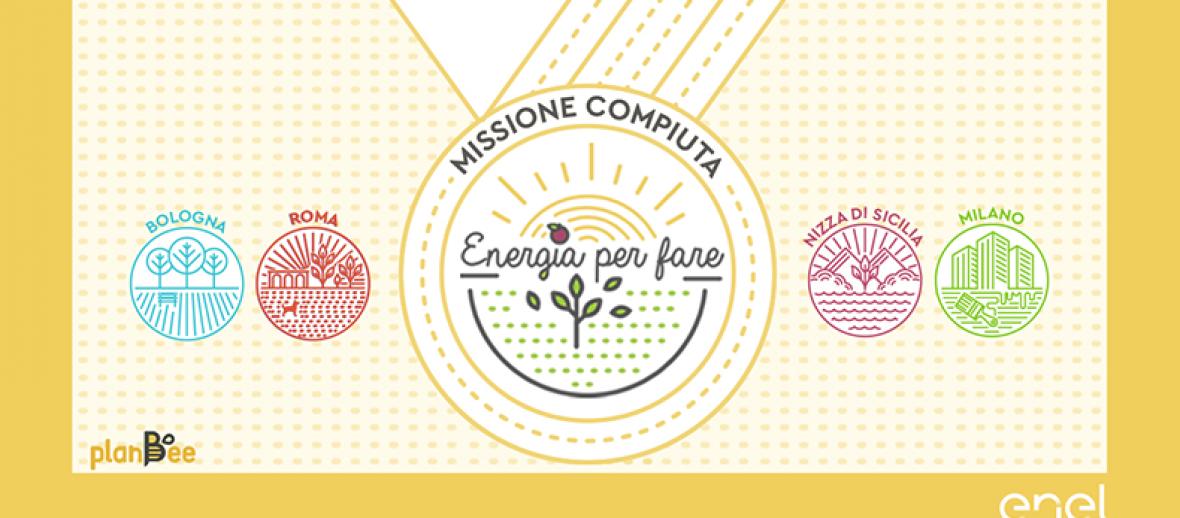Enel e PlanBee: 4 progetti completamente finanziati!
