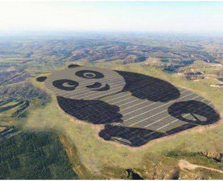 Una centrale per l'energia solare a forma di Panda!