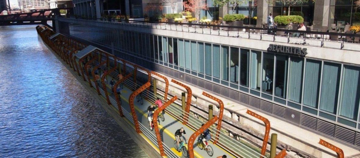 Piste galleggianti per ciclisti urbani? A Chicago si può!