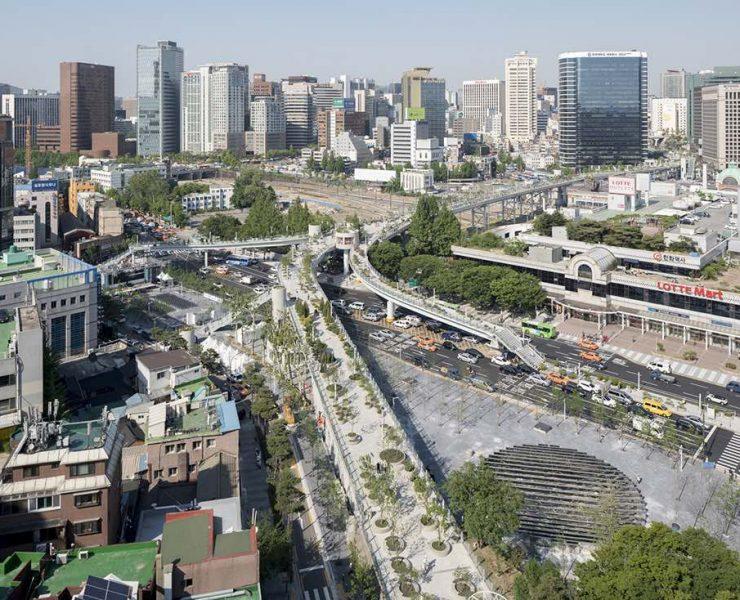 Da vecchia autostrada a parco pubblico: ecco Seoullo 7017